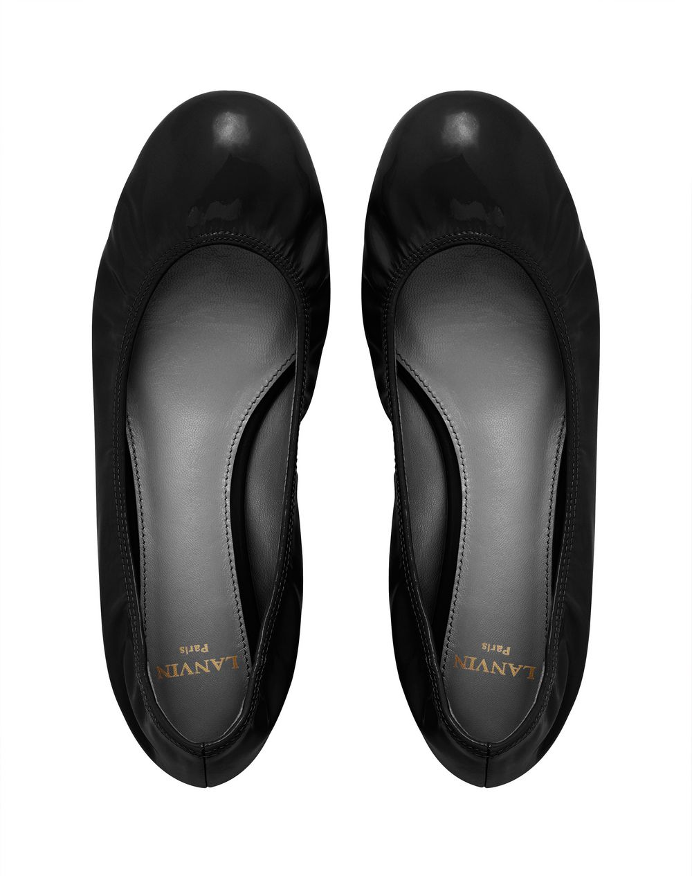 CLASSIC BLACK PATENT LEATHER BALLET FLAT - Lanvin