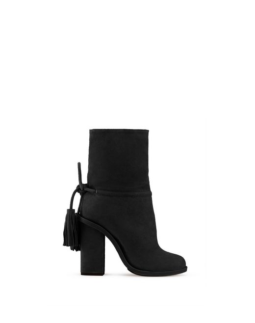 BLACK TASSEL ANKLE BOOT - Lanvin