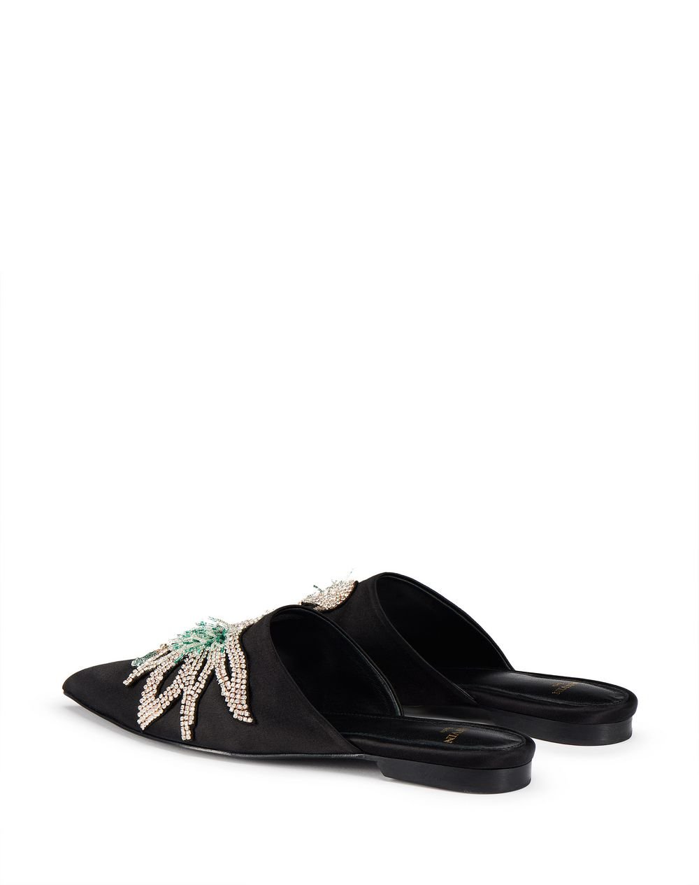 EMBROIDERED SATIN MULE - Lanvin