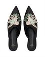 LANVIN Loafers Woman EMBROIDERED SATIN MULE f
