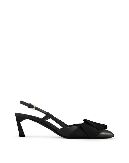 SLINGBACK PUMP WITH BLACK BOW - Lanvin