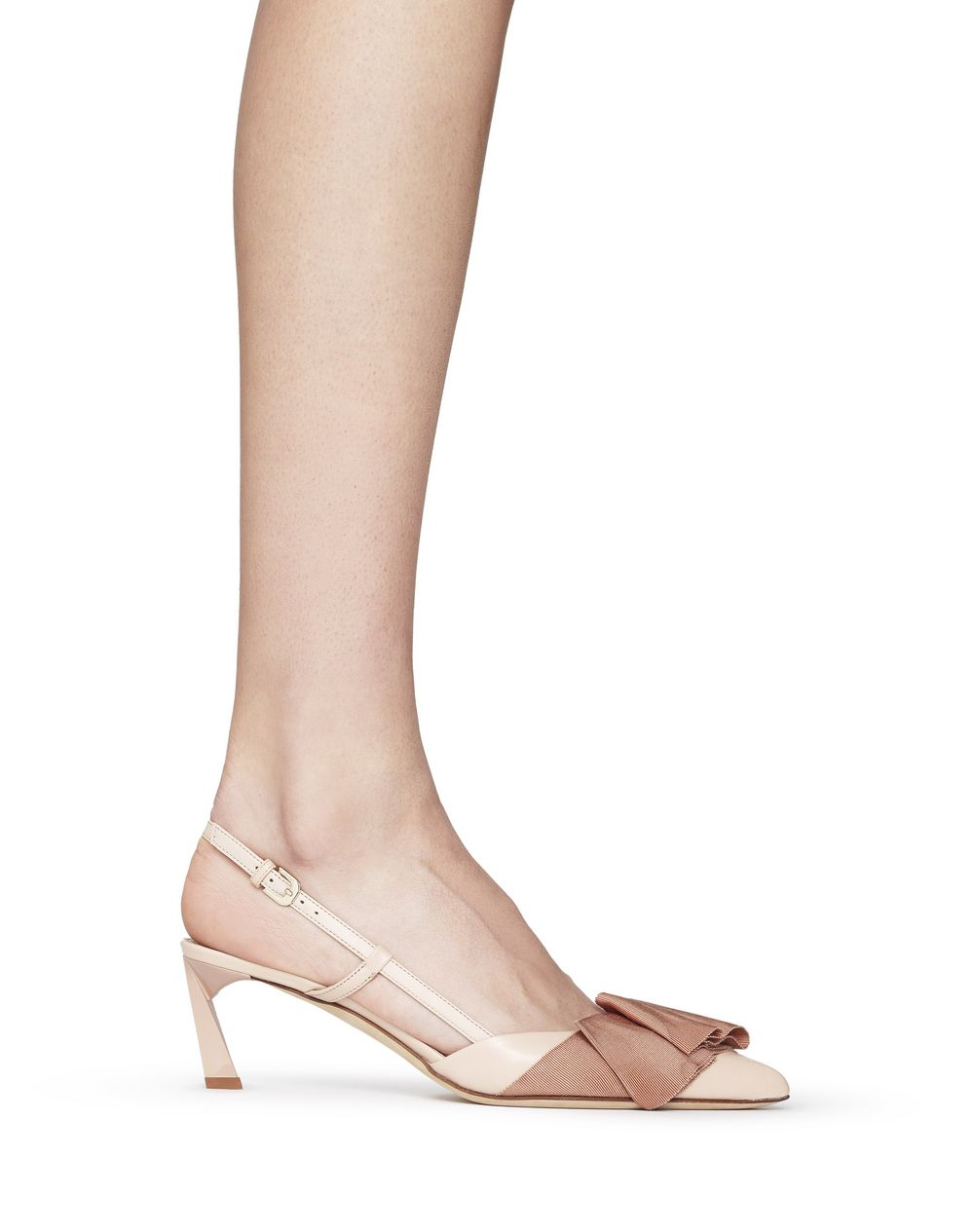 SLINGBACK PUMP WITH BEIGE BOW - Lanvin