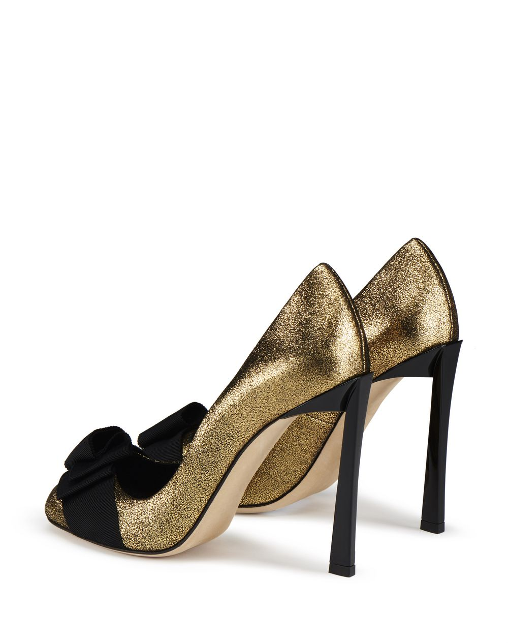PEEP TOE PUMP WITH GOLD BOW - Lanvin