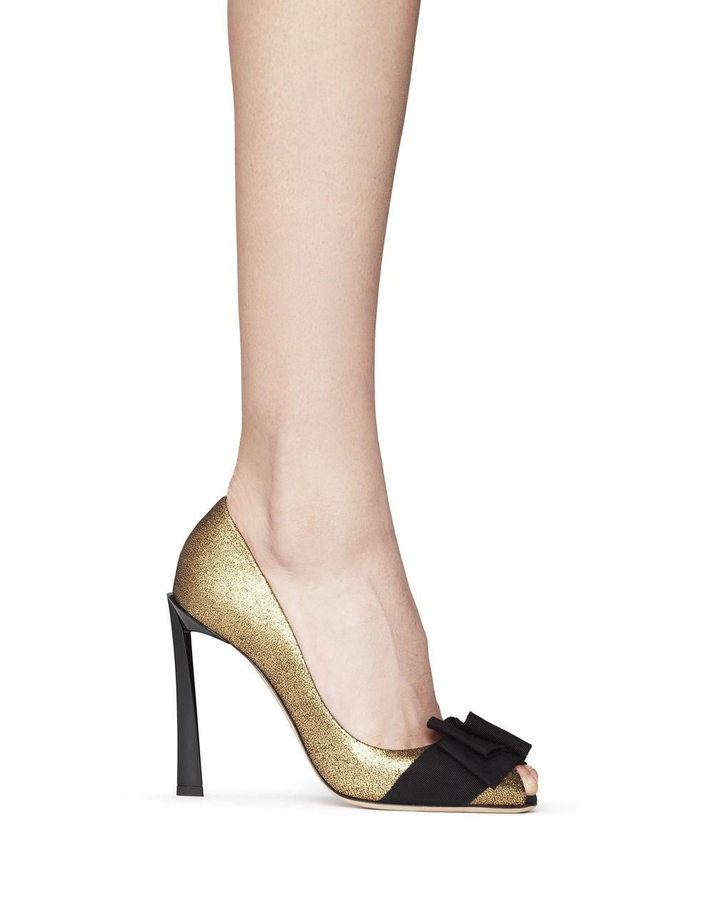 ESCARPIN OPEN TOE AVEC NŒUD OR - Lanvin
