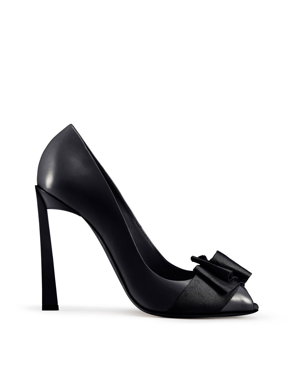 PEEP TOE PUMP WITH BLACK BOW - Lanvin