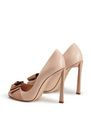 LANVIN Pumps Woman PEEP TOE PUMP WITH BEIGE BOW f
