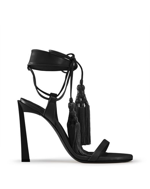 HIGH-HEELED TASSEL SANDAL - Lanvin