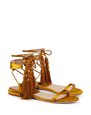 LANVIN Sandals Woman FLAT SATIN SANDAL WITH TASSEL f