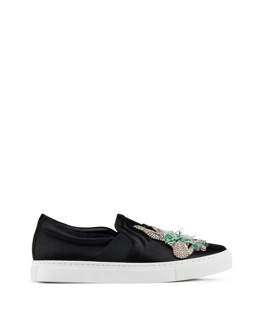 SNEAKERS SLIP-ON IN RASO RICAMATE - Lanvin