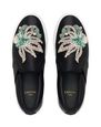 LANVIN Sneakers Woman EMBROIDERED SATIN SLIP-ON f