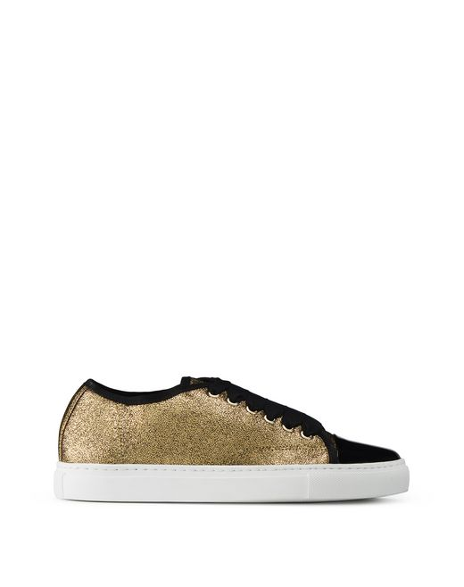 GOLD CAP TOE TRAINER - Lanvin
