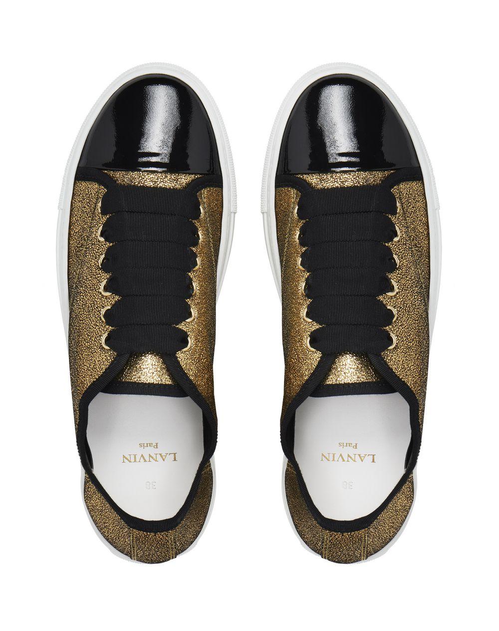 GOLD CAP TOE SNEAKER - Lanvin