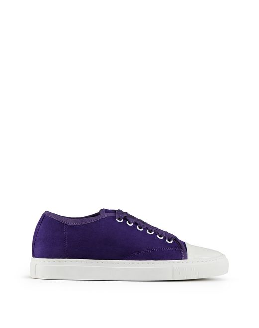 PURPLE GOATSKIN TRAINER  - Lanvin