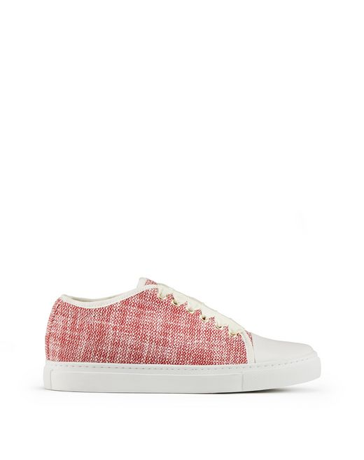 SNEAKERS IN TWEED CON PUNTA A CONTRASTO  - Lanvin
