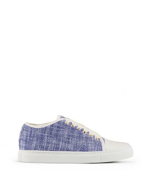 TWEED CAP TOE TRAINER             - Lanvin