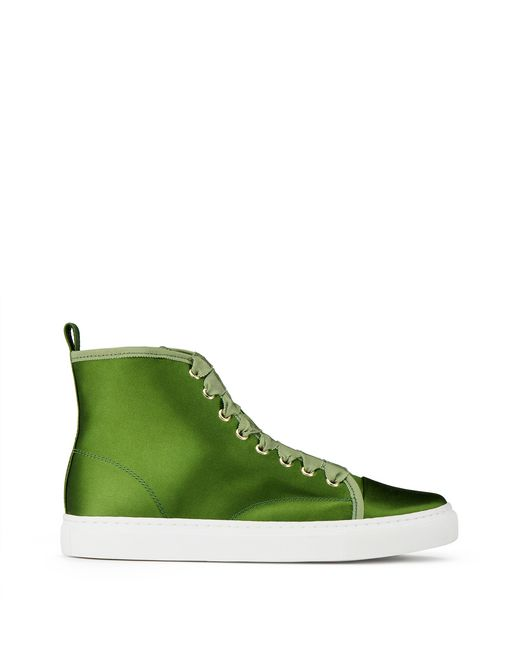 SNEAKERS HIGH-TOP IN RASO - Lanvin