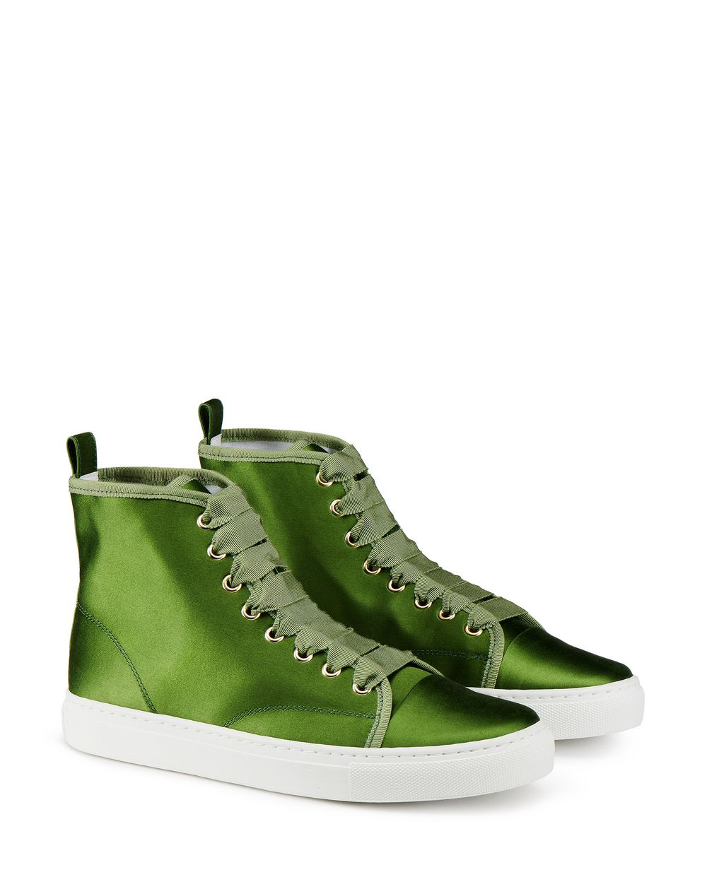 SATIN HIGH-TOP TRAINER - Lanvin