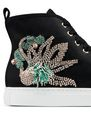 LANVIN Sneakers Woman EMBROIDERED SATIN HIGH-TOP SNEAKER f