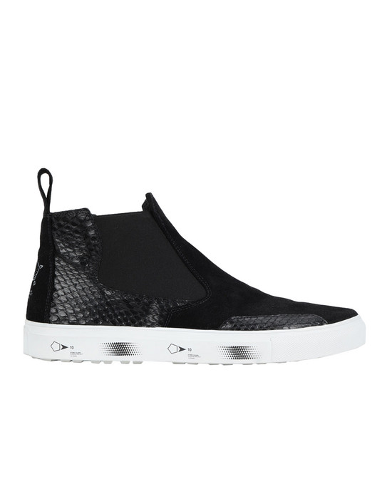 STONE ISLAND SHADOW PROJECT High-top sneaker S0522 SLIP-ON MID (SUEDE, DEER SKIN, REPTILE)