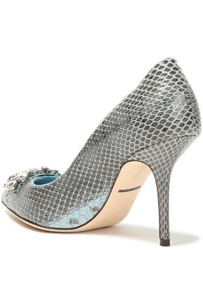 DOLCE & GABBANA Crystal-embellished ayers pumps