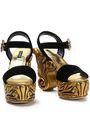 DOLCE & GABBANA Embellished velvet platform sandals