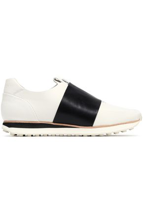 RAG & BONE Dylan strap-detailed leather slip-on sneakers