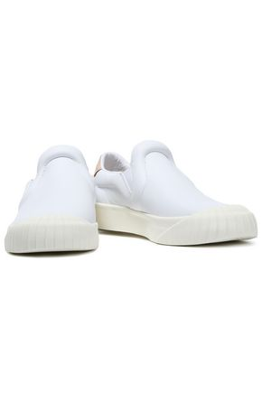 ADIDAS ORIGINALS Everyn suede-trimmed leather slip-on sneakers