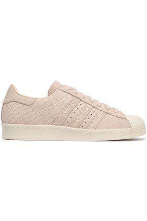 ADIDAS ORIGINALS Croc-effect leather sneakers