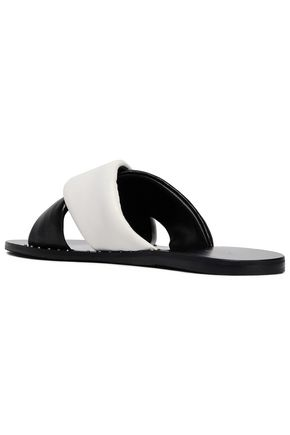 RAG & BONE Two-tone leather slides