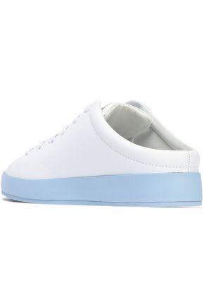 RAG & BONE Two-tone leather slip-on sneakers