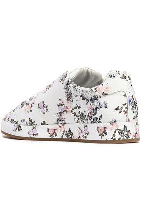 RAG & BONE Floral-print leather sneakers