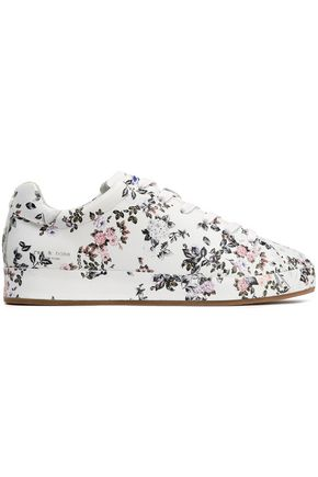 RAG & BONE Floral-print leather sneakers