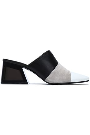 RAG & BONE Color-block suede mules