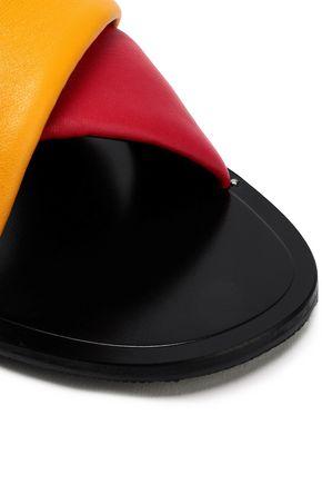 RAG & BONE Two-tone leather slides