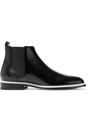 LANVIN Paneled leather ankle boots
