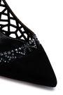 SERGIO ROSSI Crystal-embellished laser-cut suede pumps
