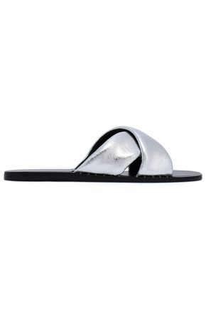 RAG & BONE Metallic leather slides
