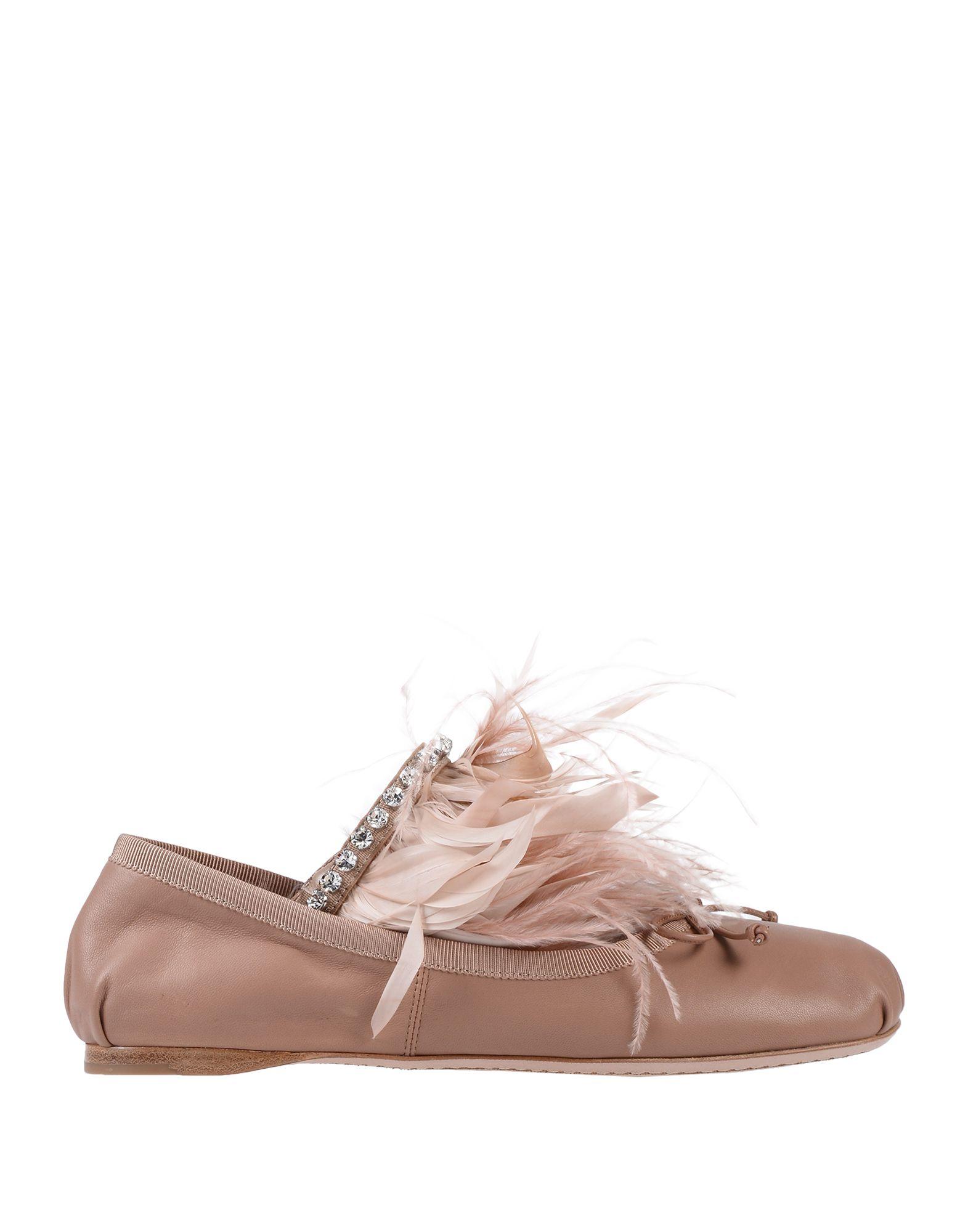 MIU MIU Балетки miu miu кожаные балетки