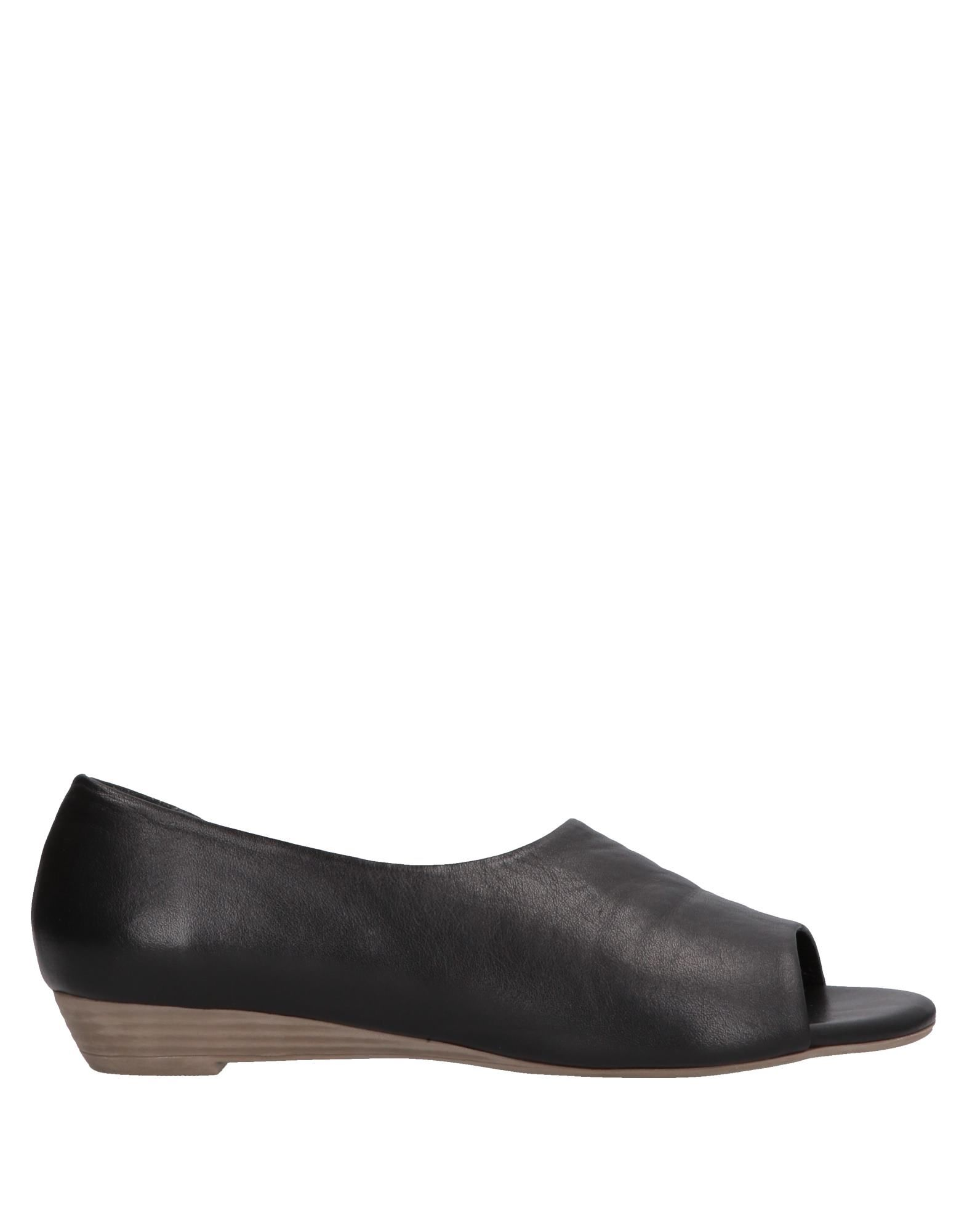BUENO Loafers. leather, no appliqués, solid color, open toe, flat, leather lining, rubber sole, contains non-textile parts of animal origin. Soft Leather