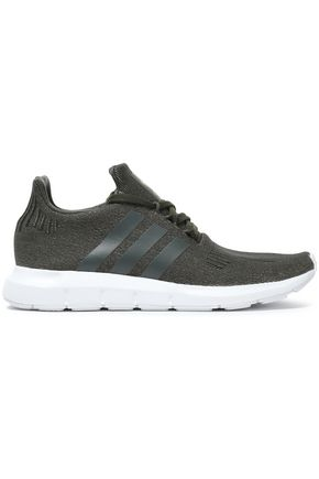 ADIDAS ORIGINALS Metallic stretch-knit sneakers