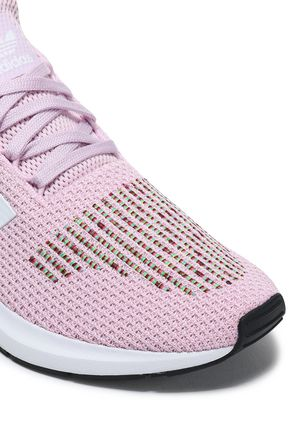 ADIDAS ORIGINALS Embroidered stretch-knit sneakers