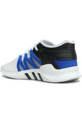 ADIDAS ORIGINALS EQT Racing leather-trimmed stretch-knit sneakers