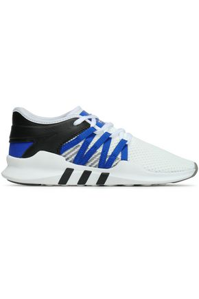 ADIDAS ORIGINALS EQT Racing Adv leather-trimmed stretch-knit sneakers
