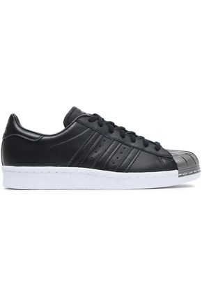ADIDAS ORIGINALS Metallic-trimmed leather sneakers