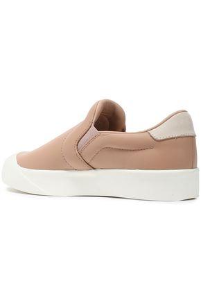 ADIDAS ORIGINALS Leather slip-on sneakers