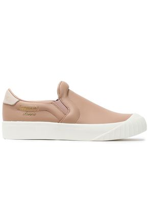 ADIDAS ORIGINALS Leather slip-on sneakers