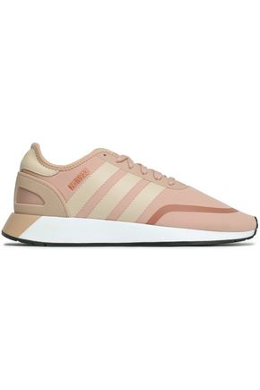 ADIDAS ORIGINALS Color-block leather-trimmed woven sneakers