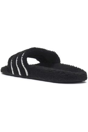 ADIDAS ORIGINALS Adilette embroidered fleece slides