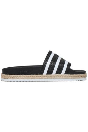 ADIDAS ORIGINALS Adilette New Bold striped rubber espadrille slides