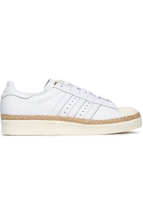 ADIDAS ORIGINALS Superstar 80s New Bold jute-trimmed leather sneakers
